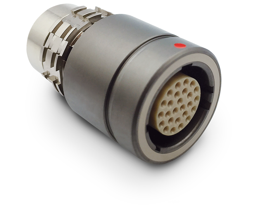 Standard, In-Line Cable Receptacle with Solder Cup Contacts